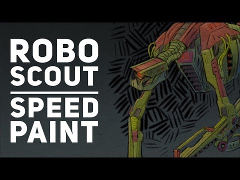 robo scout speed paint