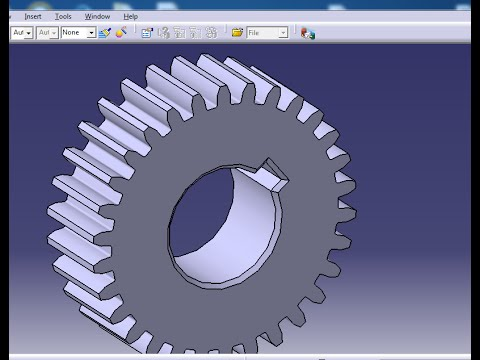 HOW TO MAKE A GEAR IN CATIA V5 , DRAW GEAR TOO EASILY .