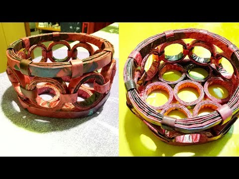 How to Make a Basket with Magazine Newspaper, LifeStyle Designs...