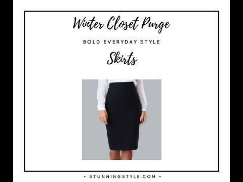 Winter Closet Purge Part 6 - Skirts
