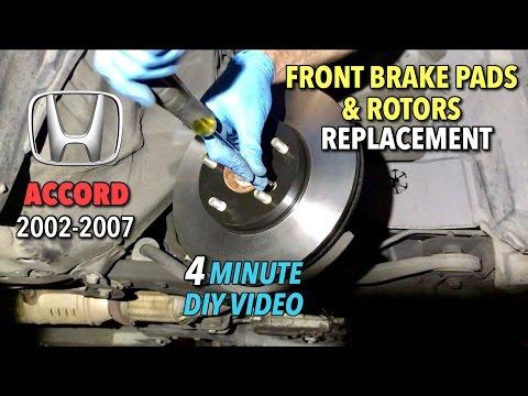 Honda Accord Front Brake Pads & Rotors Replacement 2002-2017 - 4 Minute DIY Video
