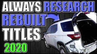 Rebuilt title cars | Always Research Rebuilt Titles 2020 | rebuilt title