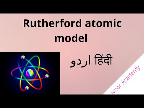 rutherford atomic model in hindi and urdu