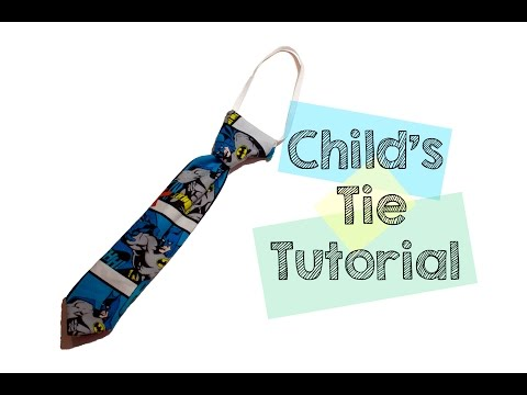 👔 Toddler/Children's Tie Tutorial - Sewing 👔