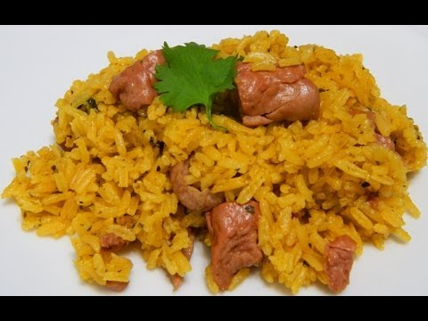 Arroz con Salchichas or Rice with Vienna Sausages