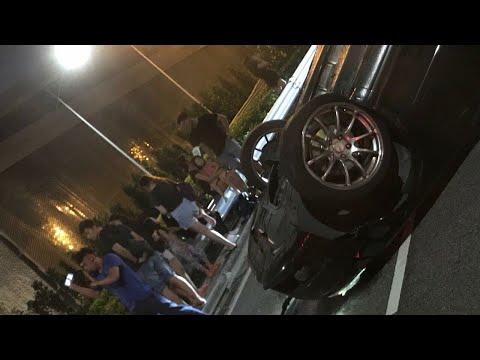 2jun2018 toyota caused audi  to turn at shear bridge