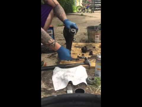 C3 Corvette upper control arm bushing removal at home without press