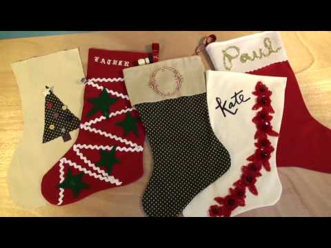 How to Make a Personalized Christmas Stocking  2016
