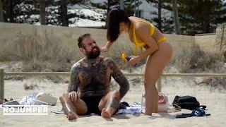 Adam22 & Lena The Plug Australian Beach Vlog