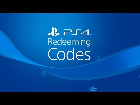 Redeeming Codes on PS4