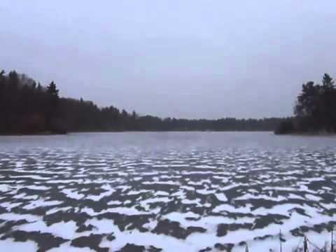 Golf Ball On Frozen Lake