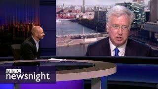 Sir Michael Fallon is challenged on the Conservative manifesto - BBC Newsnight