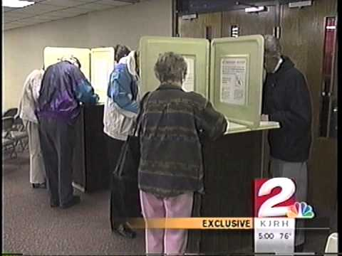 Kathy Taylor confronted about voting in both Florida and Oklahoma in the November 2000 election