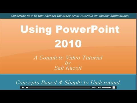 PowerPoint 2010 Tutorial: All You Need to Know About PowerPoint