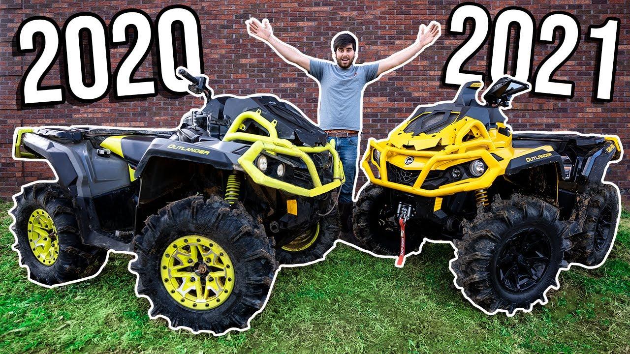 2020 VS 2021 Can-Am OUTLANDER BEAT DOWN! Racing, MUD & Wheelies!