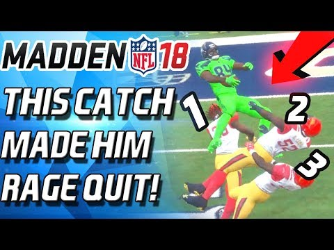 THIS CATCH MADE HIM RAGE QUIT with RANDY MOSS! - Madden 18 Ultimate Team - MUT 18
