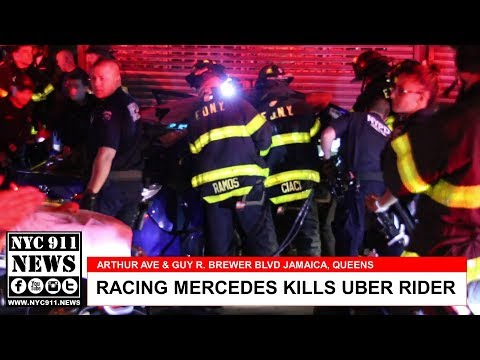 CPR on Uber rider killed by racing Mercedes