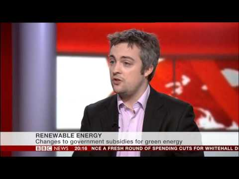 IPPR's Mark Rowney discusses offshore wind farms on BBC News Channel