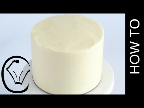 Buttercream Cake with Smooth Sides and Sharp Edges How To by Cupcake Savvy's Kitchen