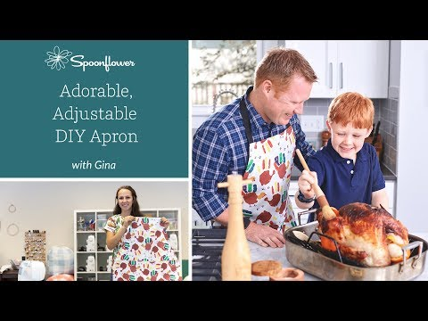 Adorable, kid-friendly DIY Adjustable Apron   Spoonflower