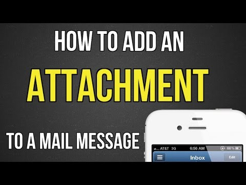 How to add an attachment to a mail message on iPhone or iPad