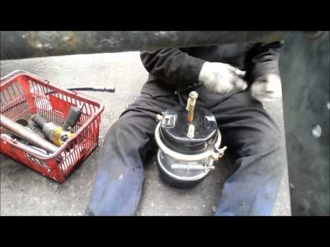 Brake chamber out of service getting it fixed.