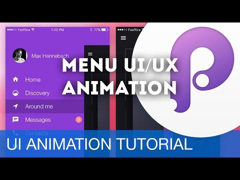 Menu UI/UX Animation • UI/UX Animations with Principle & Sketch (Tutorial)