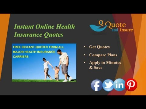 Instant Online Health Insurance Quote - Get Free Quotes Fast