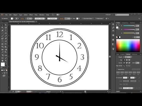 How to Draw a Clock in Adobe Illustrator | 2