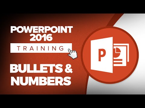 How to Add Bullets and Numbers in Microsoft PowerPoint 2016