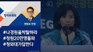 """[정치부회의] """"나경원 조직위원직 박탈하라"""" 청원 20만명 돌파"""
