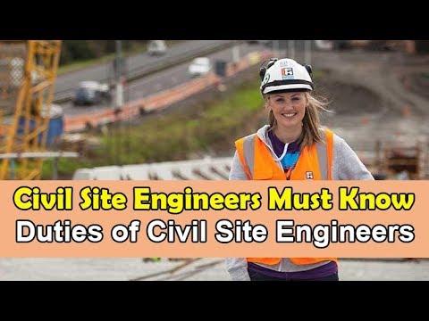Civil engineers must know | Duties of Civil Site Engineers |