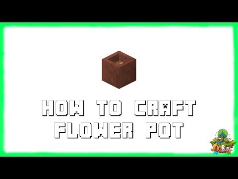Minecraft 1.12.2: How to Make FLOWER POTS! Recipe Tutorial for Minecraft 1.12.2 | 2018