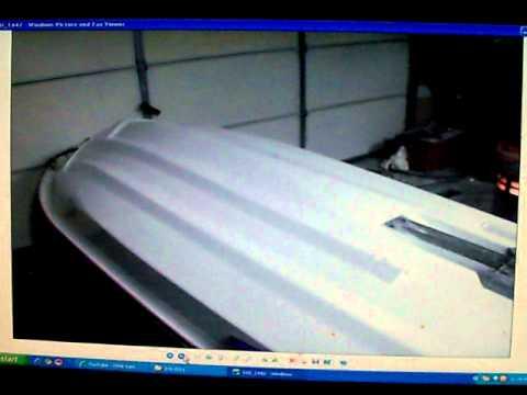 1996 Kawaski ZXI 1100 Jet ski Hull damage How to repair Video 5