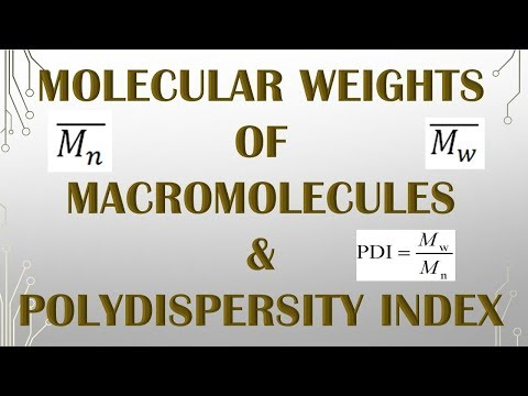 MOLECULAR WEIGHT OF POLYMER AND POLYDESPERSITY