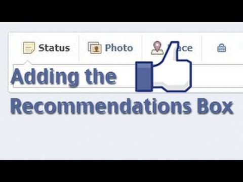 How to add the recommendations box to your Facebook Page