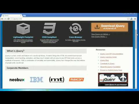 JQuery Tutorial 1-  Introduction to JQuery