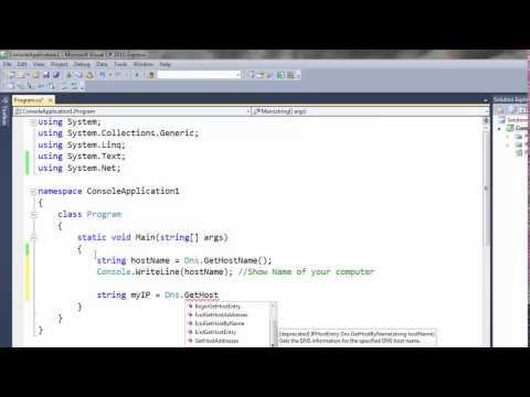 Get IP Address Using C# Console Application