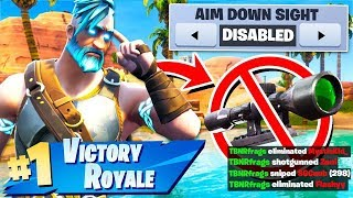WINNING Fortnite Season 5 without Aiming Down Sights Challenge!