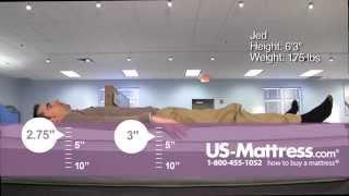 Sealy Posturepedic Hybrid Cobalt Firm Comfort Depth with Jed