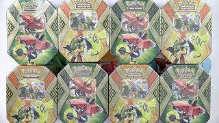 Opening 8 Pokemon Tins