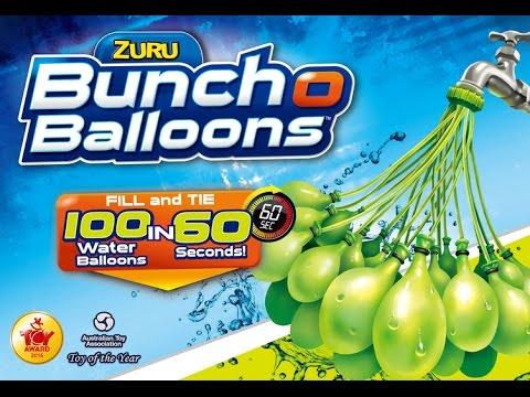 Fill 100 Water Balloons in 60 Seconds | Zuru Bunch O Balloons
