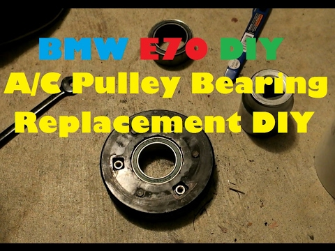 Clutchless A/C Pulley Bearing Replacement DIY for $15. On My 2007 BMW E70 X5 4.8i