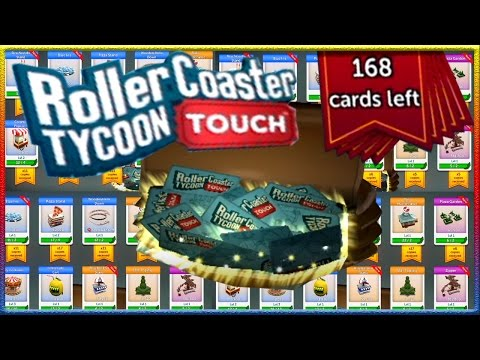 Roller Coaster Tycoon Touch - OPENING 168 NEW CARDS with EPICS!!!!