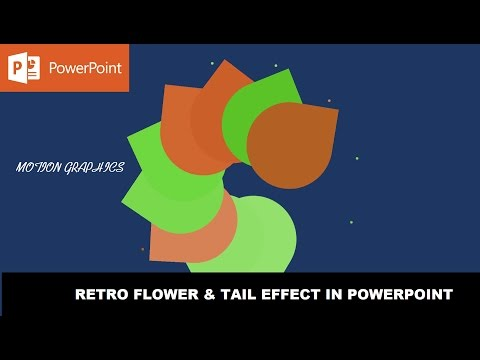 Retro Flower and Tail Effect | Motion Graphics in PowerPoint 2016 Tutorial
