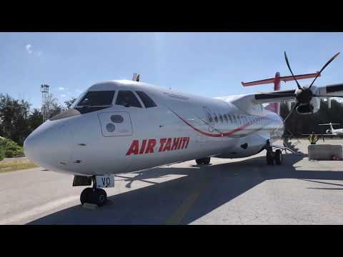 Air Tahiti ATR 72 Flight - Bora Bora to Moorea Island, French Polynesia