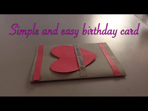 Simple and easy birthday card handmade!