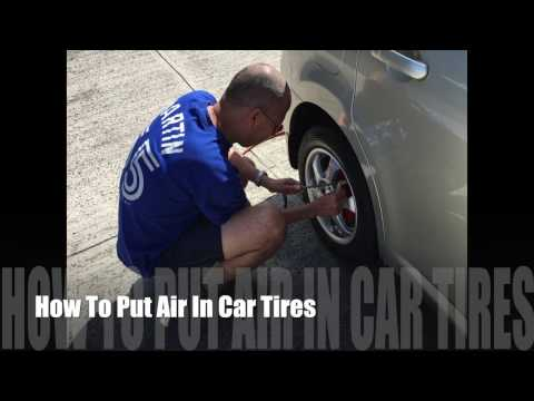 How To Put Air In Your Car Tires/Tyres (View in HD)
