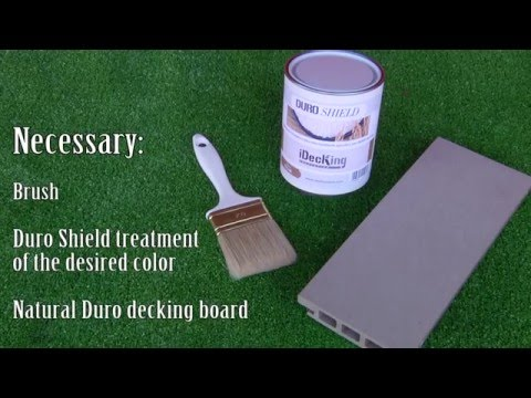 How To Stain Your Composite Deck - DURO  the Stainable Composite Decking made of rice husk!!!
