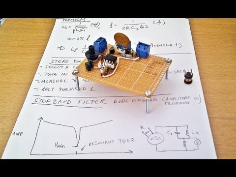 How to / DIY: Make an easy Q meter, inductance tester circuit for ferrite core, coil and more...